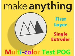 MakeAnything Colorful 3D Prints on a Single Extruder Printer Test Pog/Chip