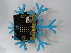 BBC microbit snowflake Christmas decoration