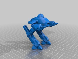 ED-209 Enforcement Droid from RoboCop with R2-D2 as pilot
