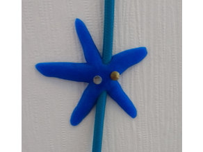Starfish cable holder (clip) with nails as eyes
