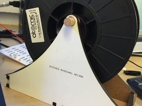 Laser cut spool holder