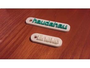 Customizable Simple Keychain