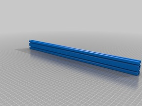 Aluminium Profile 20x40x500 mm Nut 5