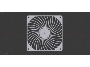 140mm Fan Grill, Air Penetrator Style