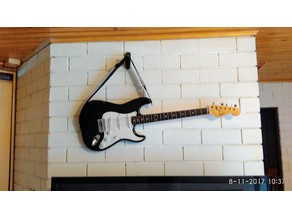 guitar wall strap hanger / Wide wall hook