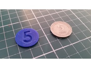 5 Shekel coin dummy for Israeli supermarket carts