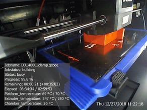 Dremel D3 3D45 Printer Camera Snapshot / GIF timelapse using PHP