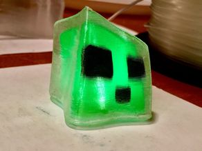 Glowing Minecraft Slime
