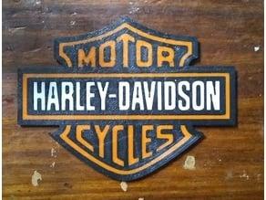 Harley-Davidson Logo multi color print