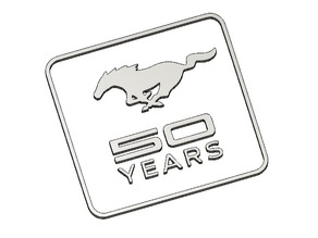 Ford Mustang 50 Year Special Badge