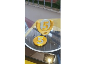 5 shekel coin keychain+printable coin (for shopping cart)