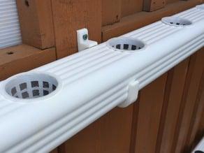 Hydroponic NFT Downspout Brackets