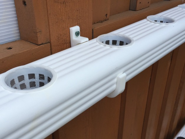 Hydroponic Nft Downspout Brackets By Gmoi Thingiverse