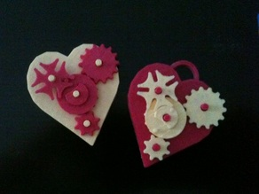 Valentine Gears Pin/Pendant
