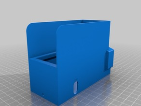 Ender 3 PSU cover with front facing AC - use for dual Z brackets