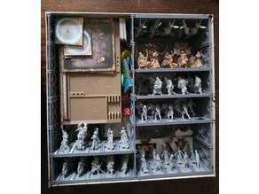 Tray System for Zombicide figurines (25 mm base)