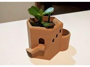 Tower Hex Planter Pot