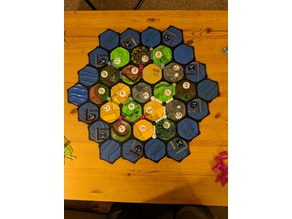 Settlers of Catan with player sets and storage