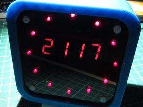 Round clock case