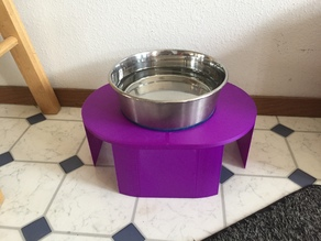 Pet water dish stand