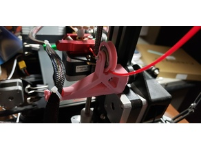 filament  guide with hotend wire holder