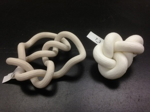 Minimum Rope Length Conformation of Knot 7_3