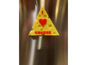 I Love Cheese Fridge Magnet