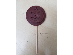 Jack-O-Lantern Pumpkin Chocolate Lollipop Mold