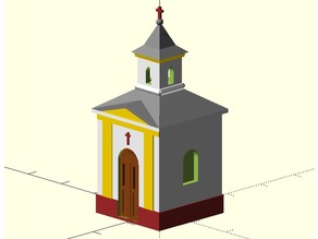 MiniRailway Village Chapel (customizable)
