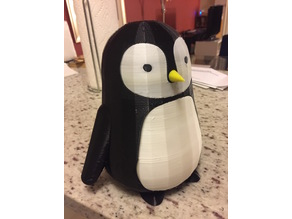 Cute Penguin with Updated Drawer Organizer Secret Compartment