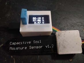 Temperature, Humidity, Moisture Sensor with OLED