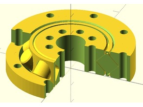 Slew bearing with crossed cylinder rollers