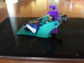 Camera mount with servo tilt