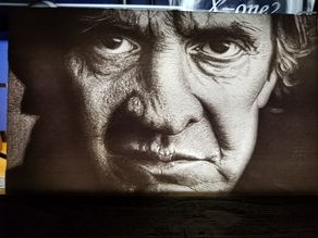 Johnny Cash Lithophane
