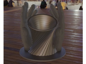 Spiral penholder-/Vase