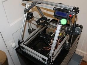 Adjustable, elevated y-rod holder for Mendelmax