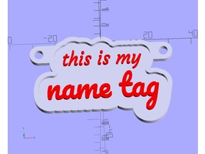 Customizable Multiline Key Chain with your personal name