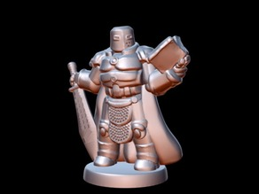 Cosmoknight Lord (18mm scale)