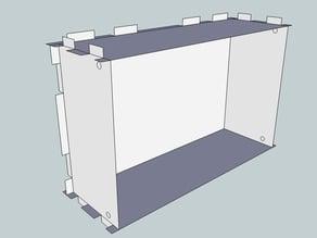 Eurorack Lasercut Case 42HP 3U Skiff 70mm
