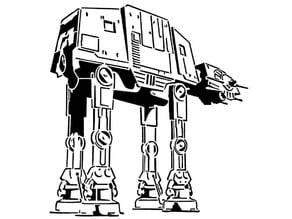 Imperial Walker stencil