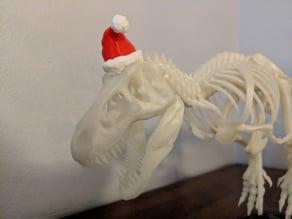 T-Rex Santa Hat