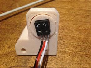 InMoov Omoplate Square Pot Adapter for PivPotholderV2.stl