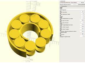 parametric, printable ball bearing / roller bearing