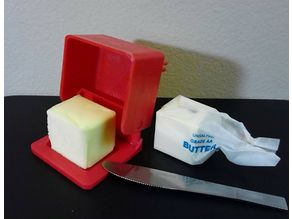 hinged butter dish shortened
