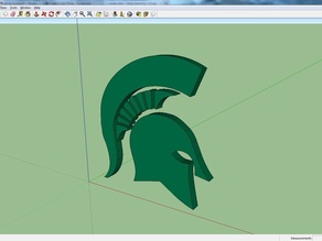 3D Michigan State Logo