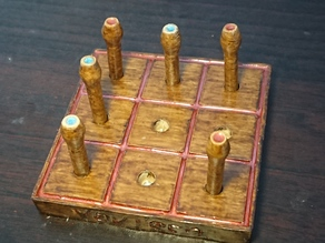Tic Tac Toe | Wood Peg Game | Classic Tabletop game multiple options