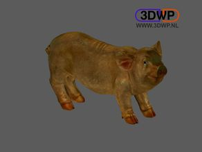 Pig Sculpture 3D Scan
