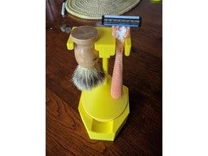 Shaving Brush Razor and Soap Holder