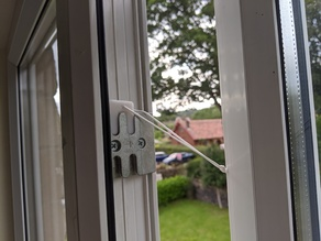 PVC window safety catch