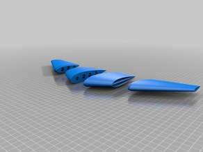 Thrust FPV Openscad Parametric Flying Wing Test  ---NACA Airfoil